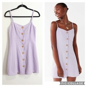 Urban Outfitters Linen Blend Strappy Back dress XS